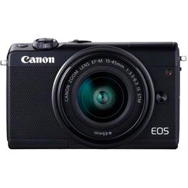Canon EOS M100 Body With EF-M 15-45mm f/3.5-6.3 IS STM Lens - Black Thumbnail Image 1